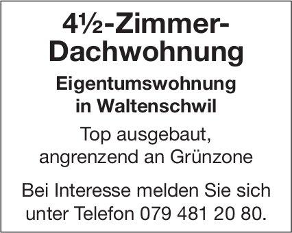 4½-Zimmer- Dachwohnung Eigentumswohnung in Waltenschwil