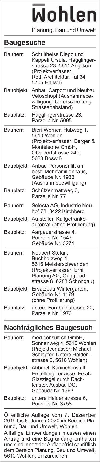 Gemeinde Wohlen - Baugesuche