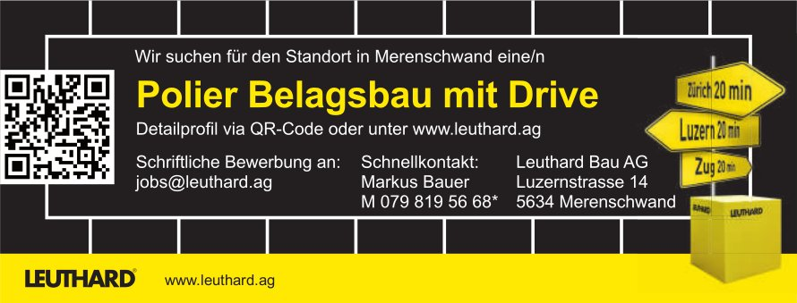 Leuthard Bau AG, Polier gesucht