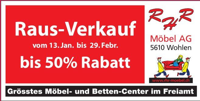 Raus-Verkauf bei Möbel AG in Wohlen