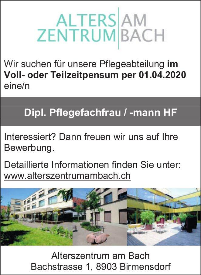 Dipl. Pflegefachfrau / -mann HF gesucht