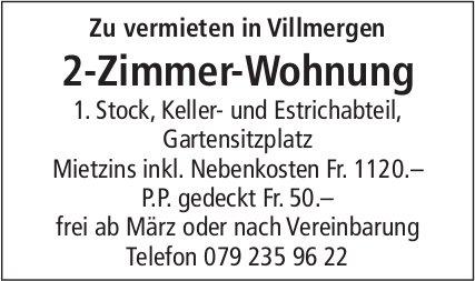 2 Zimmer-Wohnung, Villmergen, zu vermieten