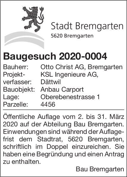 Stadt Bremgarten - Baugesuch