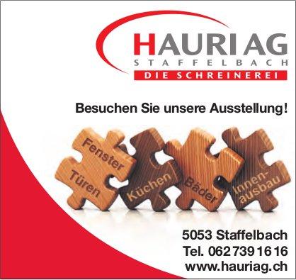 Schreinerei Hauri AG, Staffelbach - Besuchen Sie unsere Ausstellung!