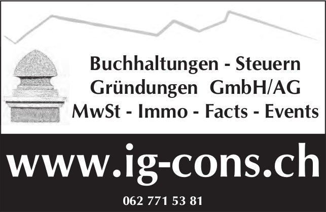 IG Cons - Buchhaltungen, Steuern