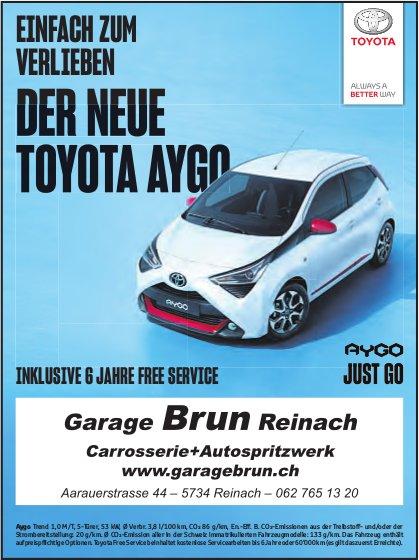 Garage Brun, Reinach - EINFACH ZUM VERLIEBEN, DER NEUE TOYOTA AYGO