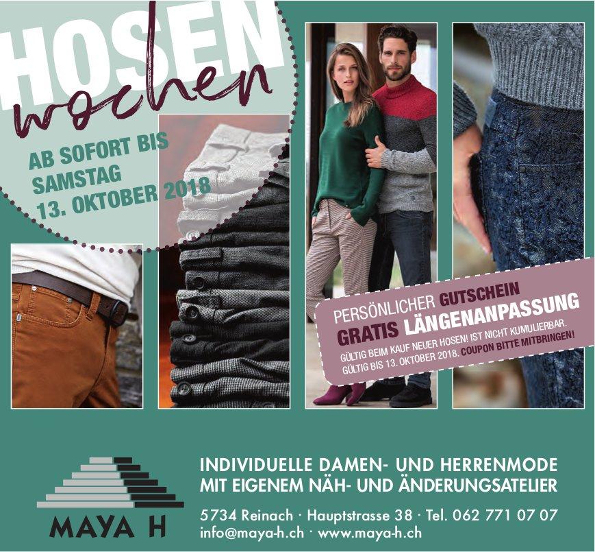 HOSEN-Wochen, bis 13. Oktober, Maya H Mode, Reinach