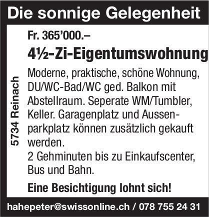 4.5-Zi-Eigentumswohnung, Reinach, zu verkaufen