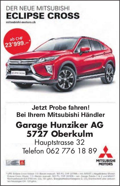 Garage Hunziker AG, Oberkulm - DER NEUE MITSUBISHI ECLIPSE CROSS
