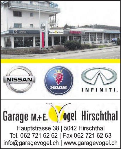 Garage M.+E. Vogel, Hirschthal - NISSAN, SAAB, INFINITI