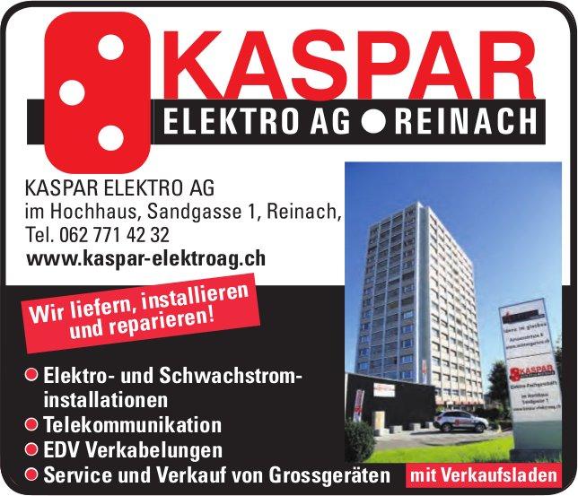 KASPAR ELEKTRO AG, Reinach - Wir liefern, installieren und reparieren!