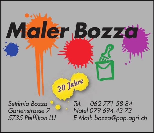 Maler Bozza, Pfeffikon LU