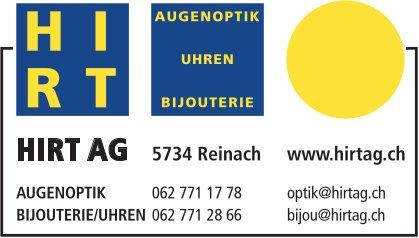 HIRT AG, Reinach - Augenoptik, Uhren & Bijouterie