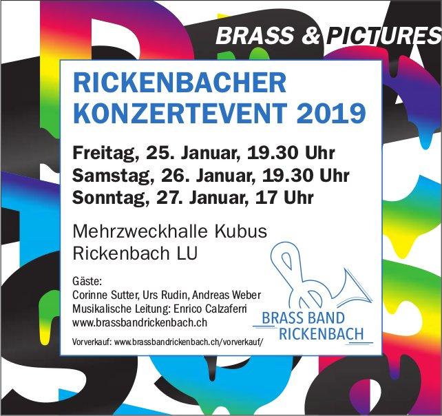 RICKENBACHER KONZERTEVENT 2019, 25. - 27. Januar, Mehrzweckhalle Kubus, Rickenbach LU