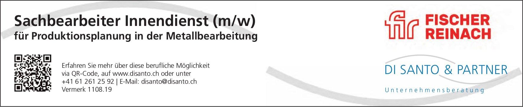 Sachbearbeiter Innendienst (m/w), Fischer Reinach, gesucht