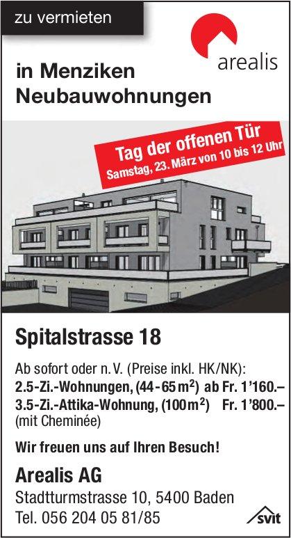 2.5- und 3.5-Zimmer-Wohnungen, Menziken, zu vermieten