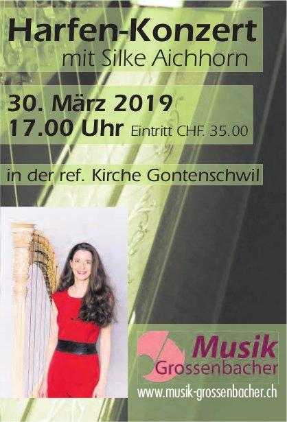Harfen-Konzert mit Silke Aichhorn, 30. März, ref. Kirche Gontenschwil