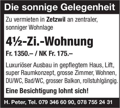 4.5-Zi.-Wohnung, Zetzwil, zu vermieten