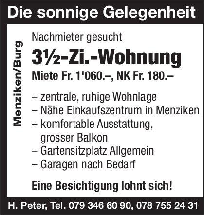 3.5-Zi.-Wohnung, Menziken/Burg, zu vermieten