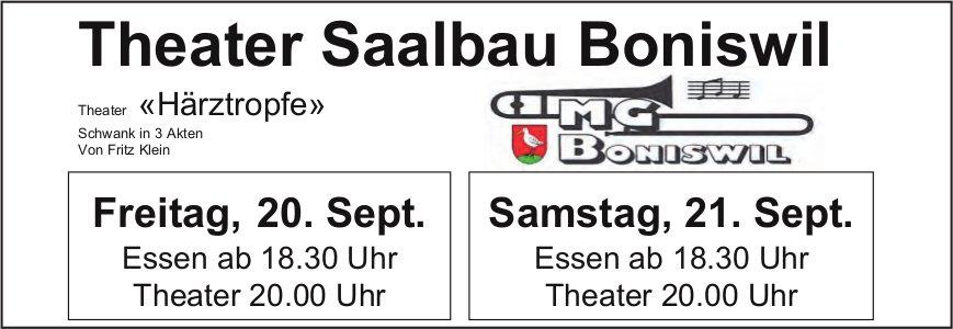"Theater ""Härztropfe"", 20./21. September, Theater Saalbau Boniswil"