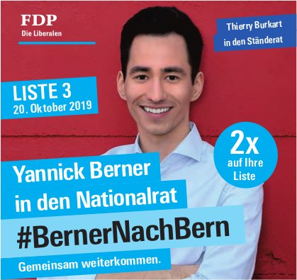Yannick Berner in den Nationalrat