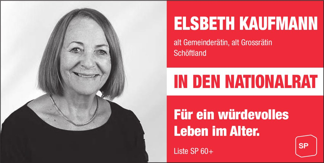 ELSBETH KAUFMANN IN DEN NATIONALRAT