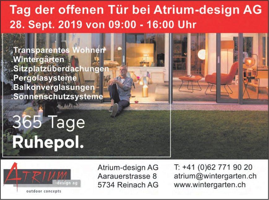 Tag der offenen Tür, 28. September, bei Atrium-design AG, Reinach AG