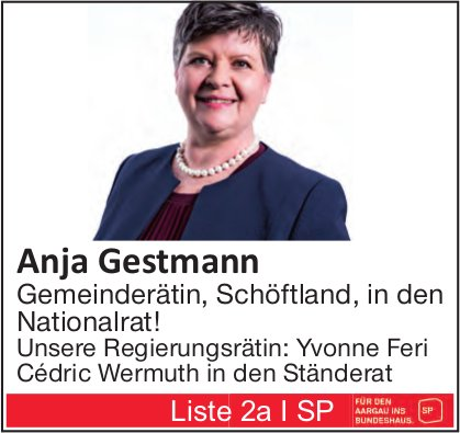 Anja Gestmann in den Nationalrat!