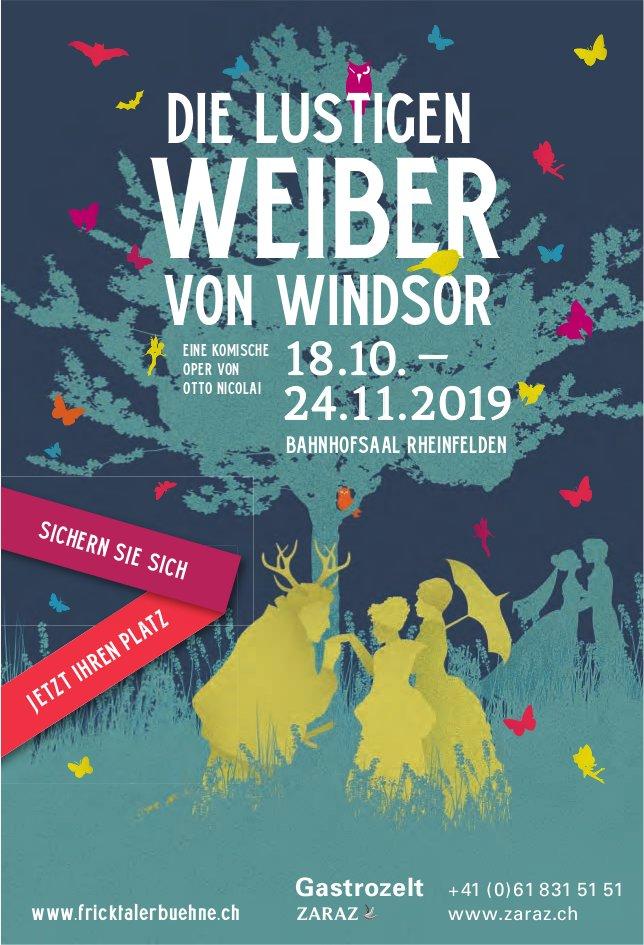 DIE LUSTIGEN WEIBER VON WINDSOR, 18. Oktober - 24. November, BAHNHOFSAAL RHEINFELDEN