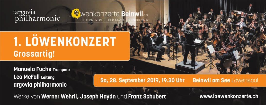 1. LÖWENKONZERT, Argovia Philharmonic, 28. September, Beinwil am See