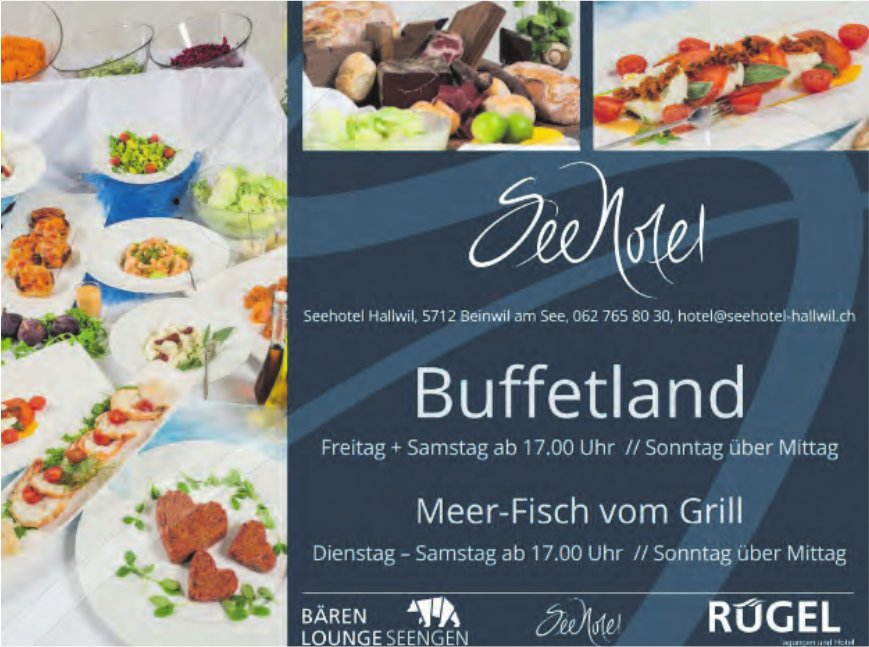 Buffetland & Meer-Fisch vom Grill, Seehotel Hallwil, Beinwil am See