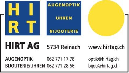 HIRT AG, Reinach - AUGENOPTIK, BIJOUTERIE/UHREN