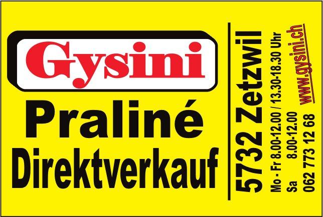 Gysini, Zetzwil - Praliné Direktverkauf
