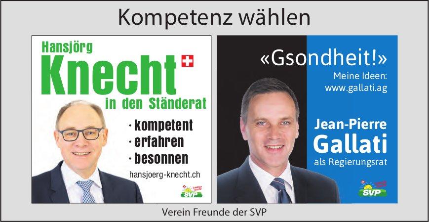 Hansjörg Knecht in den Ständerat & Jean-Pierre Gallati als Regierungsrat