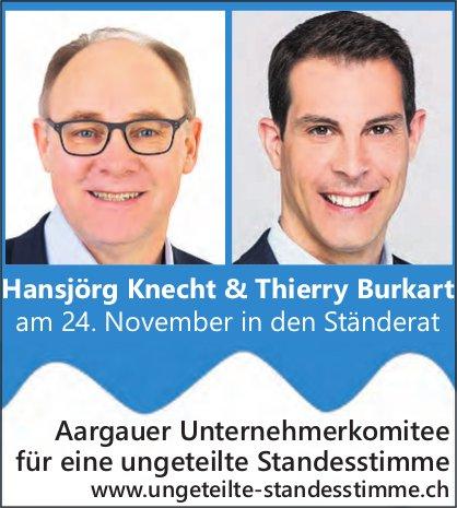 Hansjörg Knecht & Thierry Burkart in den Ständerat
