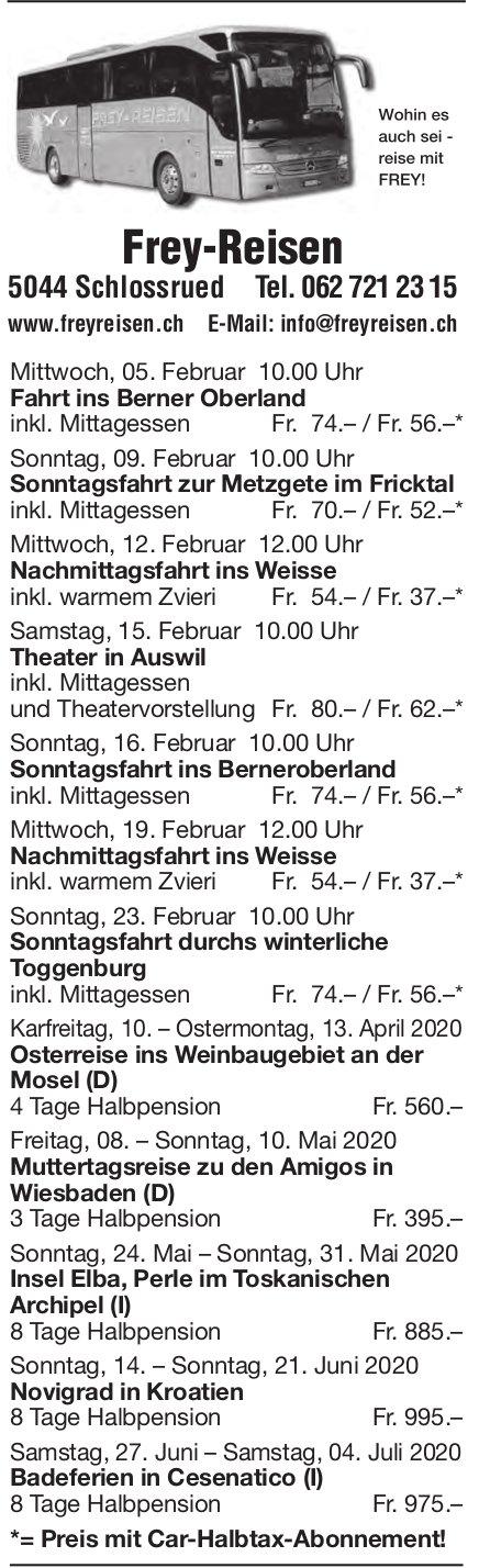 Reiseprogramm, Frey-Reisen, Schlossrued
