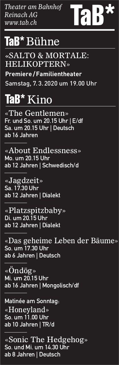 Kino- und Theater-Programm, TaB, Reinach