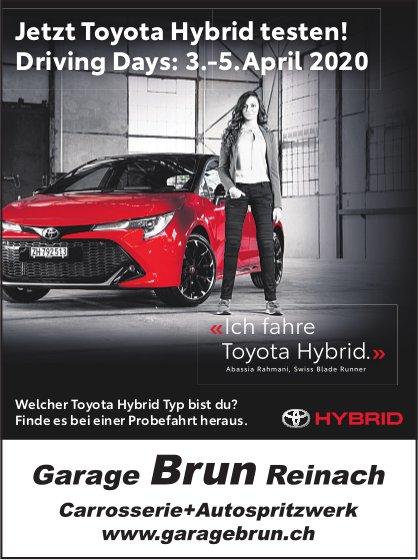Toyota Hybrid Driving Days, 3. - 5. April, Garage Brun, Reinach